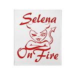 Selena On Fire Throw Blanket