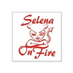 Selena On Fire Square Sticker 3