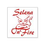 Selena On Fire Square Sticker 3