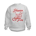Sharon On Fire Kids Sweatshirt
