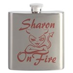 Sharon On Fire Flask