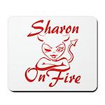 Sharon On Fire Mousepad