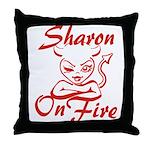 Sharon On Fire Throw Pillow