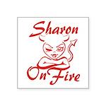 Sharon On Fire Square Sticker 3