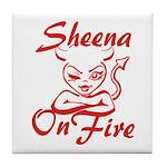 Sheena On Fire Tile Coaster