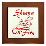 Sheena On Fire Framed Tile