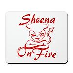 Sheena On Fire Mousepad