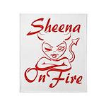 Sheena On Fire Throw Blanket