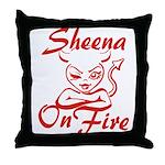Sheena On Fire Throw Pillow