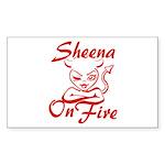 Sheena On Fire Sticker (Rectangle)