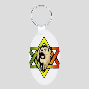 Judah Lion - Reggae Rasta! Aluminum Oval Keychain