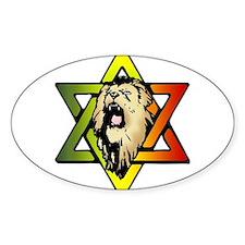 Judah Lion - Reggae Rasta! Sticker (Oval)