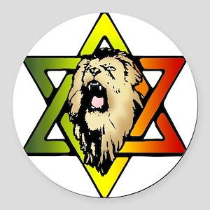 Judah Lion - Reggae Rasta! Round Car Magnet