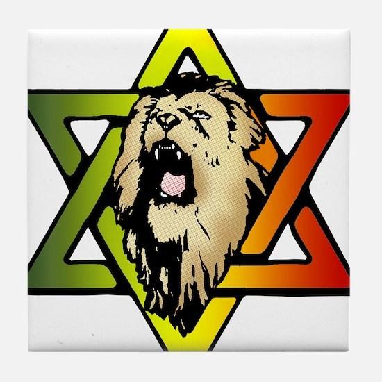 Judah Lion - Reggae Rasta! Tile Coaster