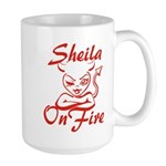 Sheila On Fire Large Mug