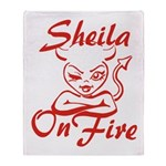 Sheila On Fire Throw Blanket
