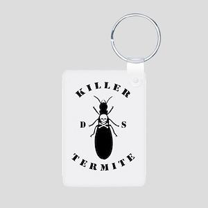 Killer Termite - White Aluminum Photo Keychain