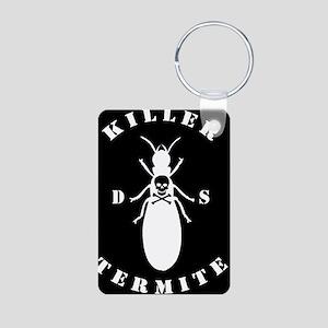 Killer Termite - black Aluminum Photo Keychain