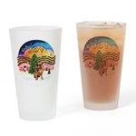 XMusic2 - Brussels (blk) Drinking Glass