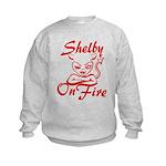 Shelby On Fire Kids Sweatshirt