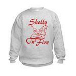 Shelly On Fire Kids Sweatshirt
