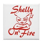 Shelly On Fire Tile Coaster