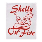 Shelly On Fire Throw Blanket