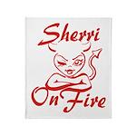 Sherri On Fire Throw Blanket