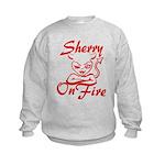 Sherry On Fire Kids Sweatshirt