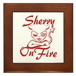 Sherry On Fire Framed Tile