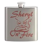 Sheryl On Fire Flask