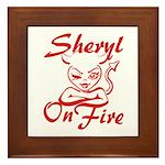 Sheryl On Fire Framed Tile