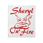 Sheryl On Fire Throw Blanket