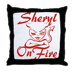 Sheryl On Fire Throw Pillow