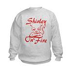 Shirley On Fire Kids Sweatshirt