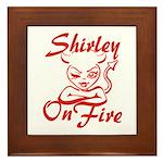Shirley On Fire Framed Tile