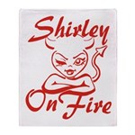 Shirley On Fire Throw Blanket