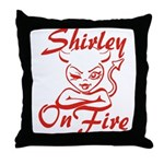 Shirley On Fire Throw Pillow