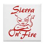 Sierra On Fire Tile Coaster