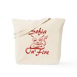 Sofia On Fire Tote Bag