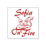 Sofia On Fire Square Sticker 3