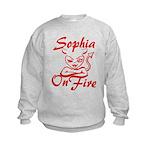 Sophia On Fire Kids Sweatshirt