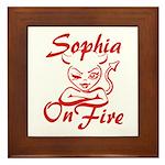 Sophia On Fire Framed Tile