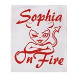 Sophia On Fire Throw Blanket