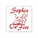 Sophia On Fire Square Sticker 3