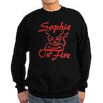 Sophie On Fire Sweatshirt (dark)