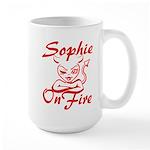 Sophie On Fire Large Mug