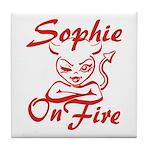 Sophie On Fire Tile Coaster