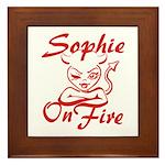 Sophie On Fire Framed Tile