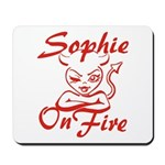 Sophie On Fire Mousepad